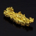 自然金(自形結晶)