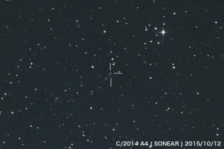 2014A4 ソニア彗星、15.3等