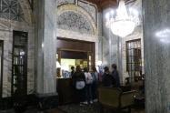ホテル ウイットコム。歴史的建造物に指定されてました。ちょっと設備も古いです。