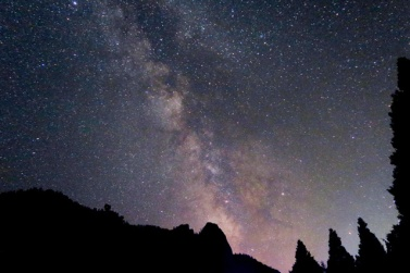 煙っているはずなのに、とても星がきれいでした。